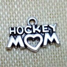 50 шт хоккейный кулон для мамы амулеты ювелирные аксессуары 1,3*2,3 см