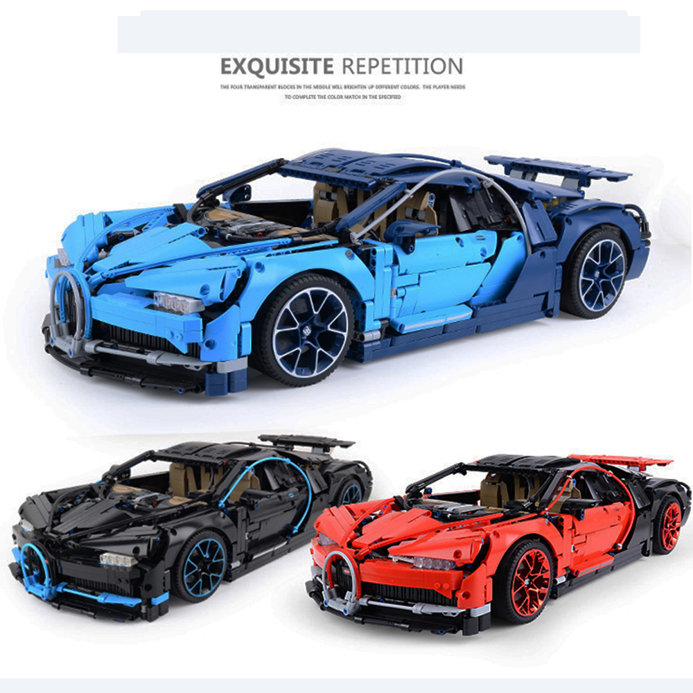 20086 20086C Bugatti Chiron Technic Rc Car With LED Model Building Blocks Bricks Sets Kids Toys Compatible With 42083 IN STOCK