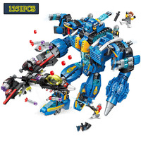 Enlighten Building Block High Tech Era Garma Mecha Man Figures Deformation Robot Series Poseidon Technic Bricks Toy For Boy Gift