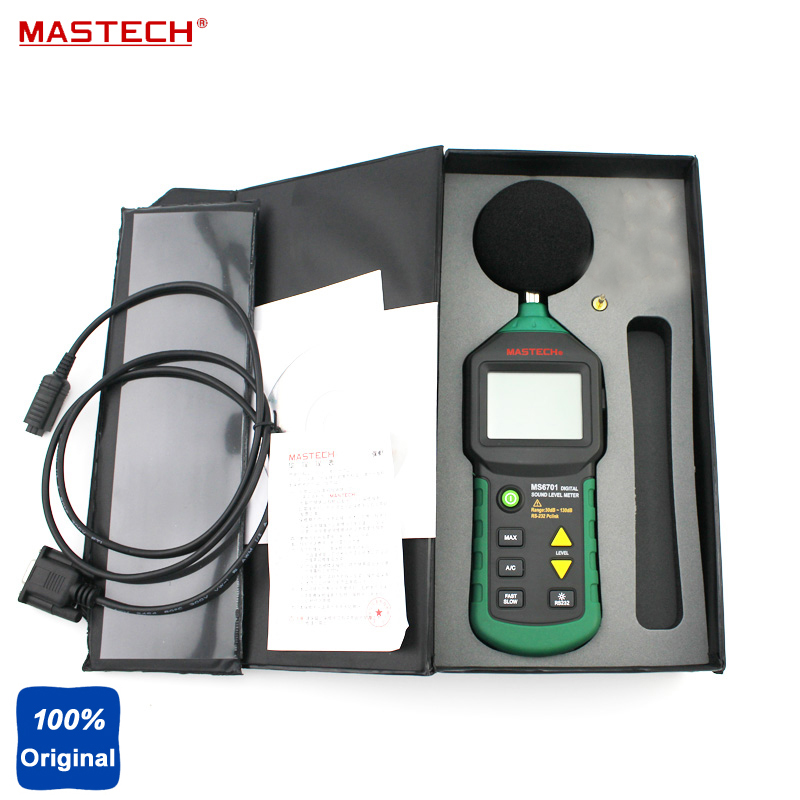 Digital Multimeter Electrical Tester Sound Level Meter 30dB ~ 130dB Mastech MS6701 mastech ms6701 autoranging digital sound level meter decibel tester 30db to 130db with rs232 interface and software with the box