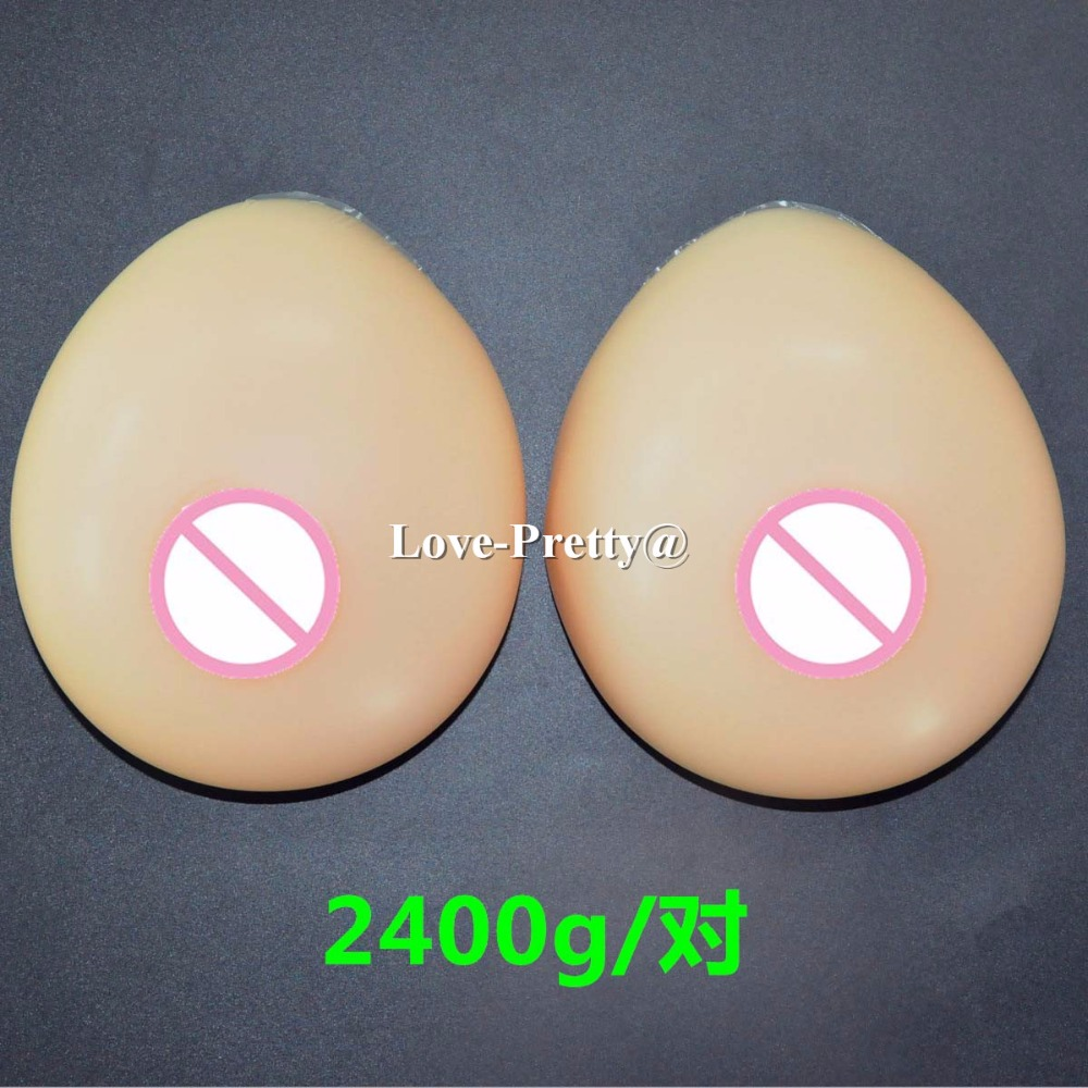 7XL 2400 g pair fake silicon breasts g cup sexy big boobs large breast forms false