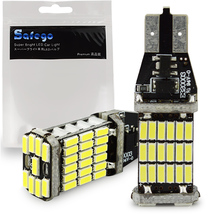 Safego 2pcs Canbus LED T10 T15 921 912 W16W Car Light Bulbs Error Free 45 SMD 2835 4014 Chips Wedge Bulb 6500K White 1000 Lumens
