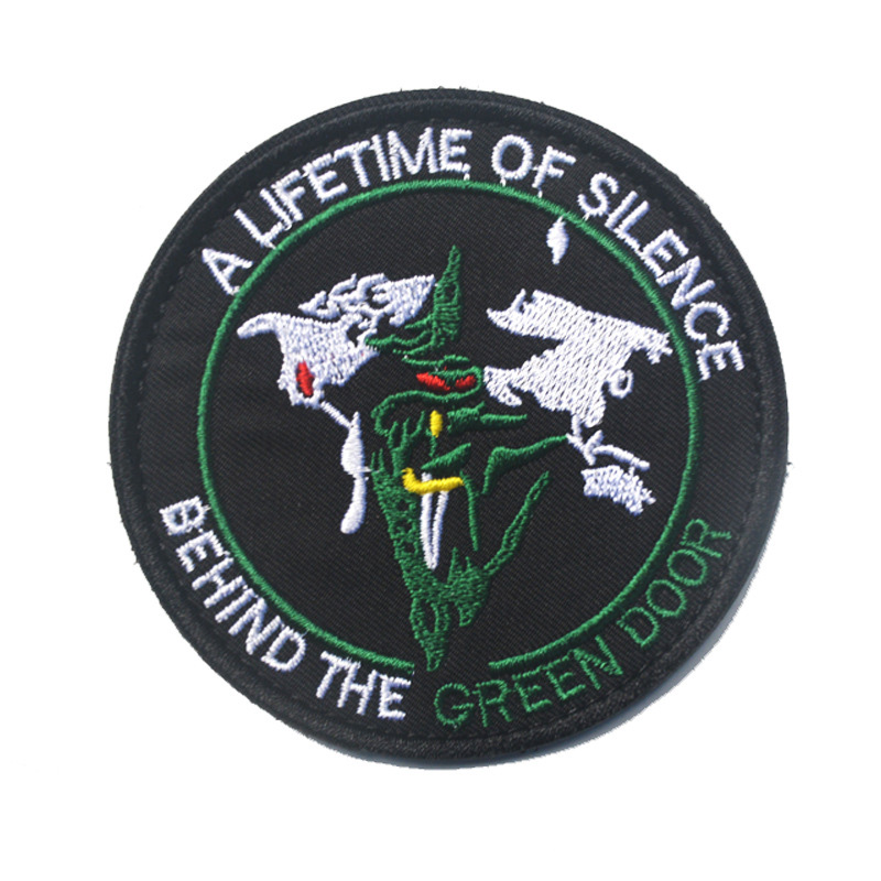 A LIFETIME OF SILENCE Morale Patch 3D Embroidered BEHIND