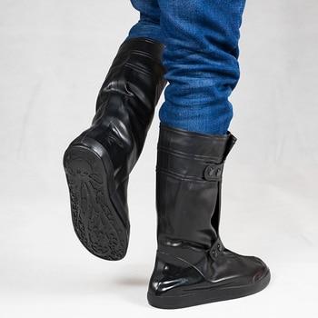 Reusable Men Waterproof Shoe Cover Silicone Non-slip Rain Shoe Covers Waterproof Shoe Protectors for Men