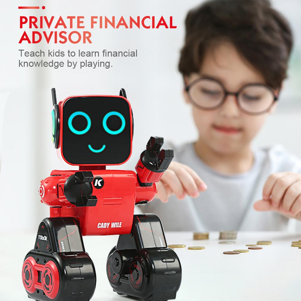 Programmable RC Robot Mini Smart Robot Remote Control Toys Touch Voice Control Sing Dance Built-in Coin Bank Kids Toy Gift(China)
