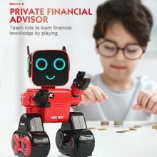 Программируемый радиоуправляемый робот, мини умный робот, игрушки с дистанционным управлением, сенсорное Голосовое управление, пение, танец, встроенный банк монет, детская игрушка в подарок