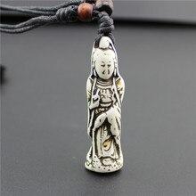 New 12pcs lot Vintage Yak Bone Necklace Men Punk 3D Carving Pendants Necklaces for Women Vintage