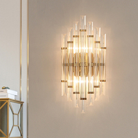 Living Room led Wall Lamps Creative Up Down Wall Light Bathroom Light Fixture Crystal Wall Sconces Restaurant led Crystal Lights