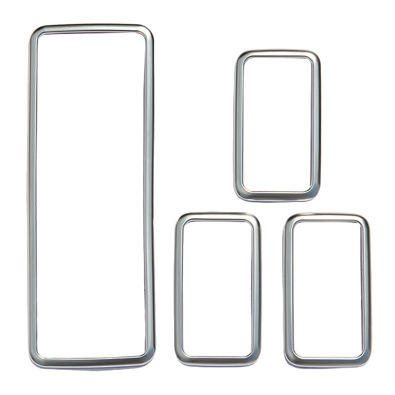 4Pcs For Land Rover Range Rover Sport Rr Sport 2014-2017 Car-Styling Abs Chrome Window Lift Button Frame Trim