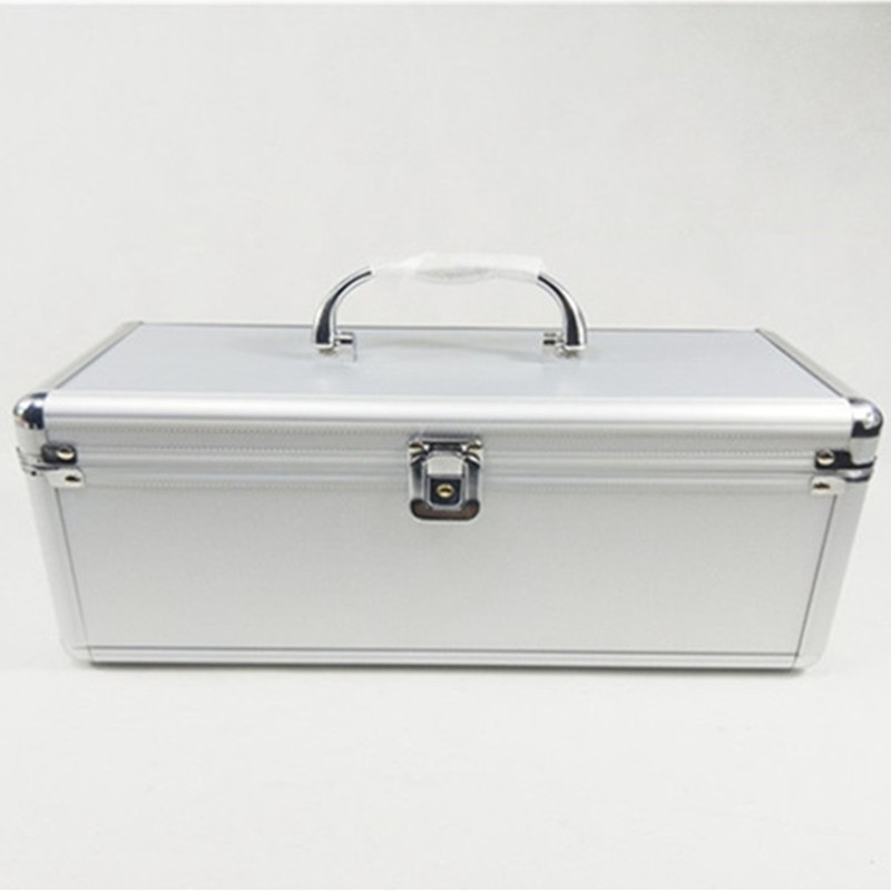 Aluminum frame travel suitcase bag Beauty salon manicure toolbox storage box double layer luggage bags PVC cosmetic case handbag цена