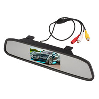 4 3inch High Definition Video Parking Monitor Car Reverse Monitor LED Night Light Vision With Car