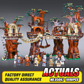 1990 pcs Lepin 05047 Blocos de Construção de Star Wars Ewok Aldeia Juguete para Construir Tijolos Brinquedos Compatível com