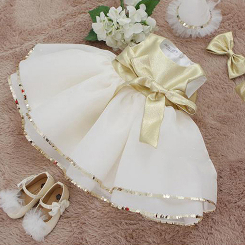Baby Girl Princess Dress Big Bow Flower Girls Dresses 2018 Summer Children Dress Sleeveless Ball Gown Sequined Tutu Dress A39 jioromy big girls dress 2017 summer fashion flower lace knee high ball gown sleeveless baby children clothes infant party dress