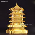 3d Puzzle Metal Teaser Assemblage For Adult educational Kids Games Hobby 3d Model Children Puzzles Chinese Ancient Architecture