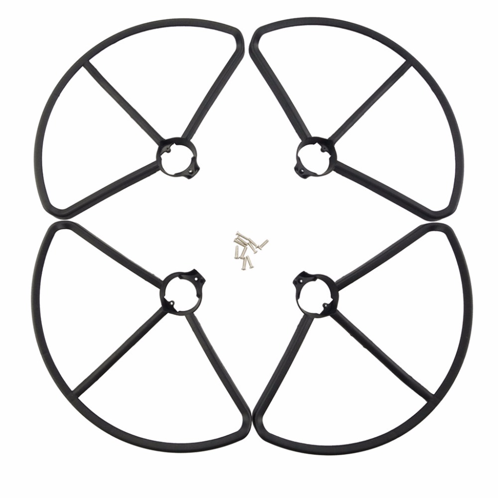 4PCS BLLRC accessorie protective cover For MJX B2C B2W Bugs 2 four-axis aircraft spare parts UAV upgrade protective cover-Black