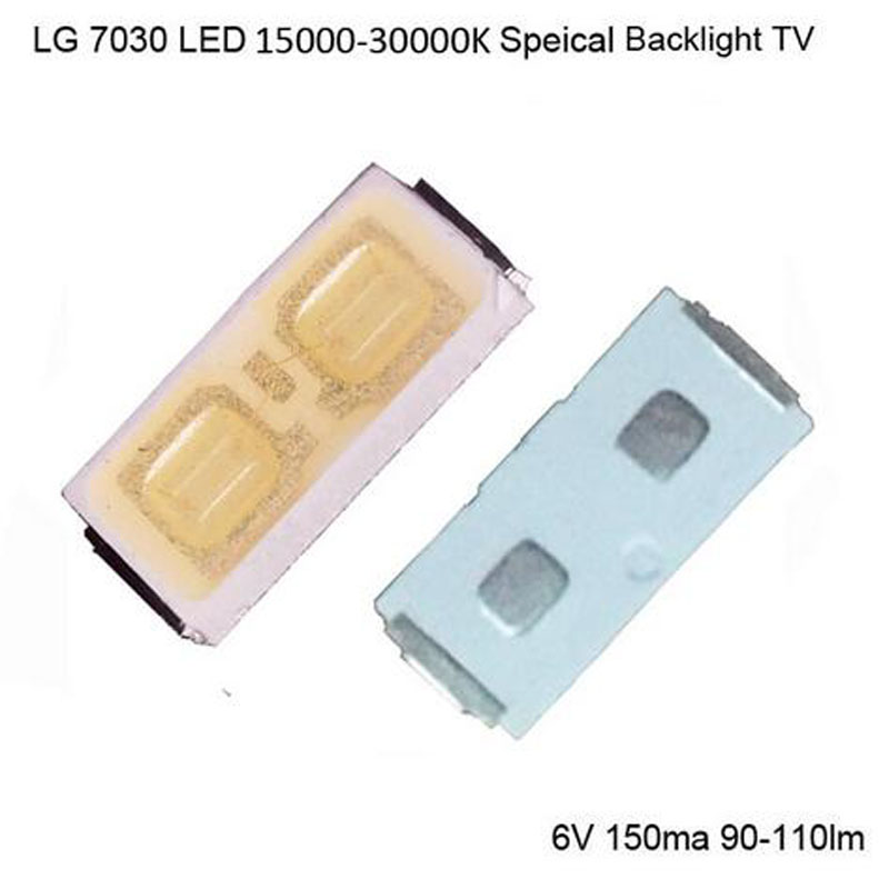 100PCS For LG LED LCD Backlight TV Application High Power LED LED LCD TV Backlight LED Backlight 1W 90lm 6V 7030 Cool white