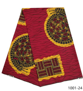 Image 4 - 2019 latest 6yards african wax prints kente fabric hot selling african ankara wax fabric 100% polyester wax prints for party1001