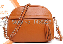 2014 new design fashion chairn shoulder hanbdag women small size bags from top grain cow leather