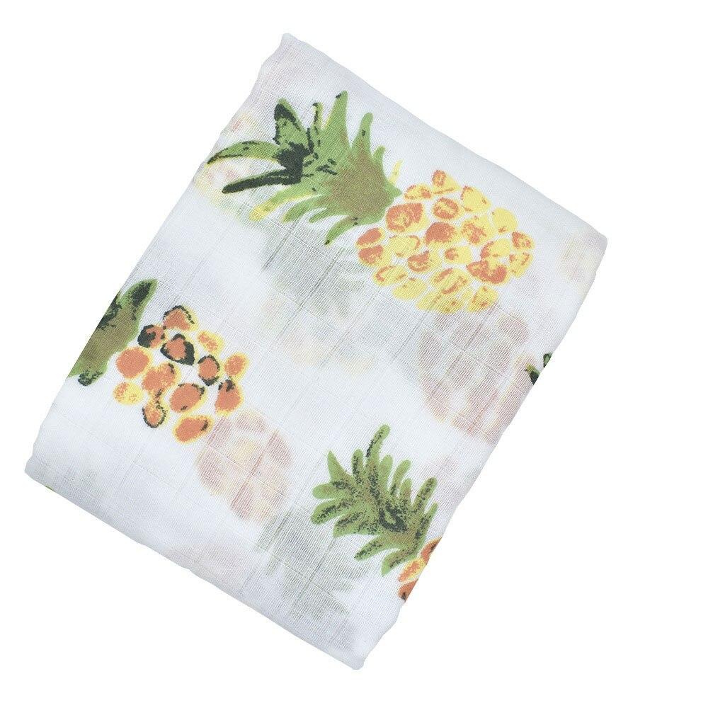 Детское полотенце-пеленка одеяло детская пеленка одеяло мусульманский мультфильм сон детская коляска душ многофункциональное детское одеяло уход за ребенком - Цвет: pineapple