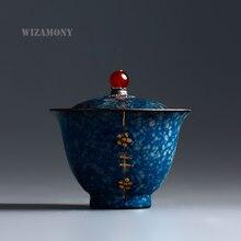 WIZAMONY 170 ml Kung Fu teaset Gaiwan Tasse Schüssel Jingdezhen Elegante Schöne teekanne wasserkocher Kaffee Tasse Chinesische Teekanne