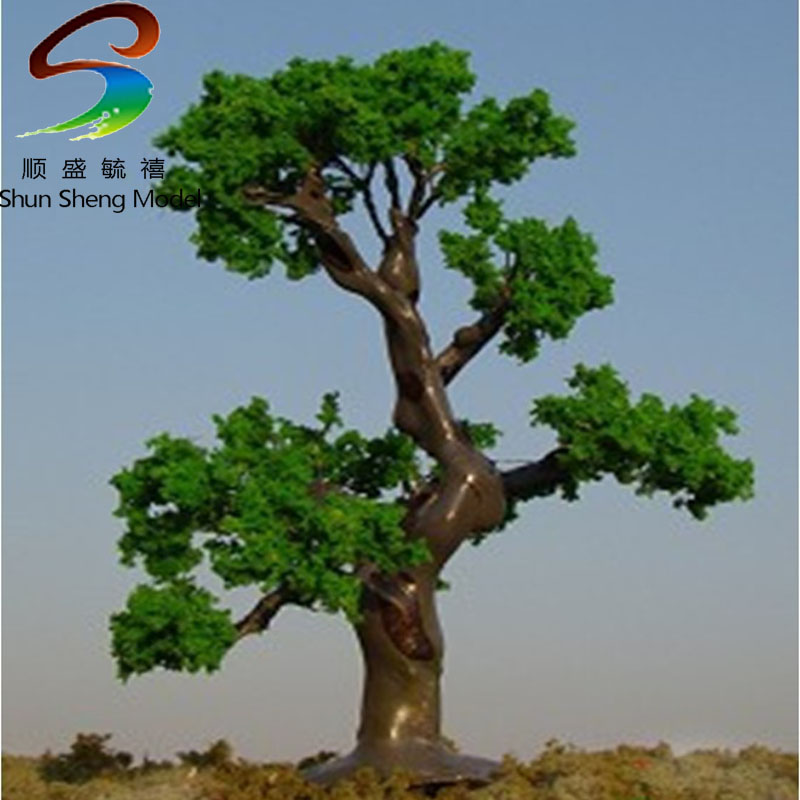 2pcs H :10cm Model Wire Scale Tree For Building Model Layout Model Tree With Leaf