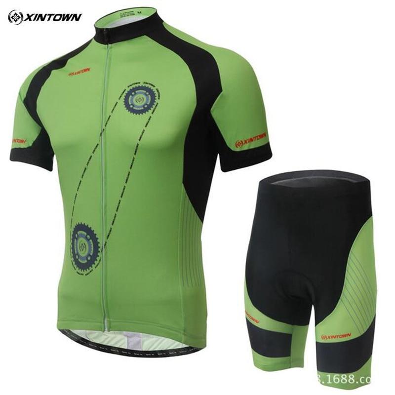 2017 XINTOWN Summer style gear Cycling Jersey ciclismo Bicycle short sleeve shorts cycling pants shorts bib