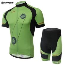 2017 xintown verano estilo equipo de ciclismo jersey ciclismo bicicleta de manga corta pantalones cortos de ciclismo pantalones cortos bib bici cortos