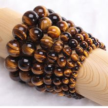 Minimalist Natural Stone Beads Tiger Eye Bracelet 4 Size Beaded Mens Buddha Braclet For Male Yoga Handmade Jewelry Homme Bijoux(China)