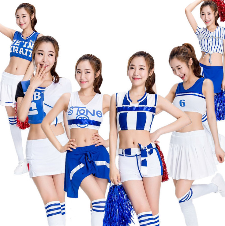 Sexy Costumes Titivate Sexy High School Cheerleader Costume Girl Baseball Dance Cheer Girls Race Car Driver Uniform Party Wear New Varieties Are Introduced One After Another
