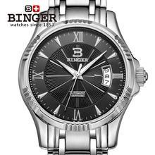 Wristwatches BINGER automatic mechanical self-wind sapphire watches full steel waterproof men's watches B5011