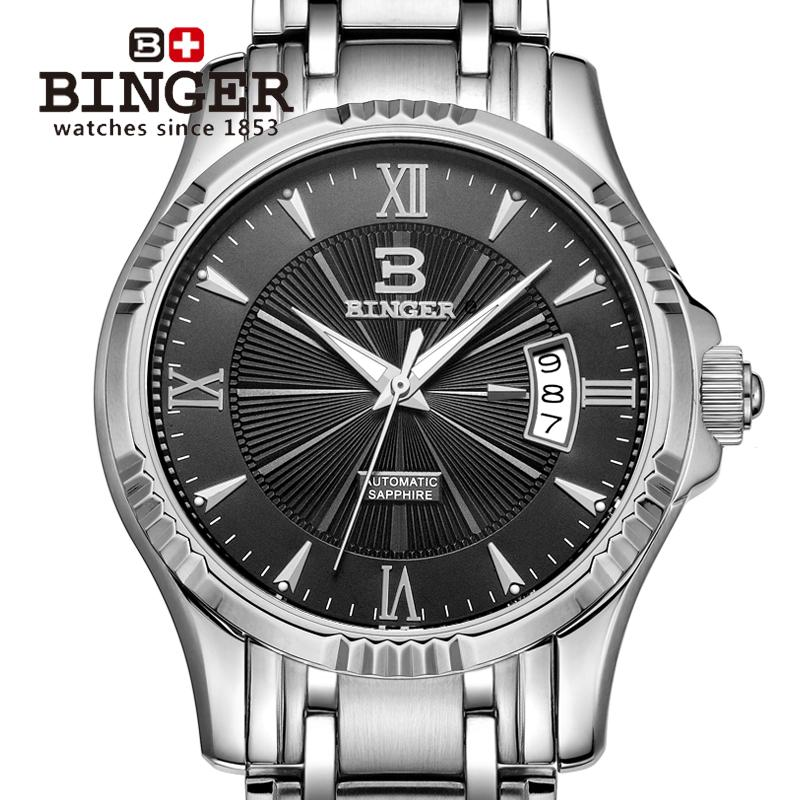 Wristwatches BINGER automatic mechanical self-wind sapphire watches full steel waterproof mens watches B5011Wristwatches BINGER automatic mechanical self-wind sapphire watches full steel waterproof mens watches B5011