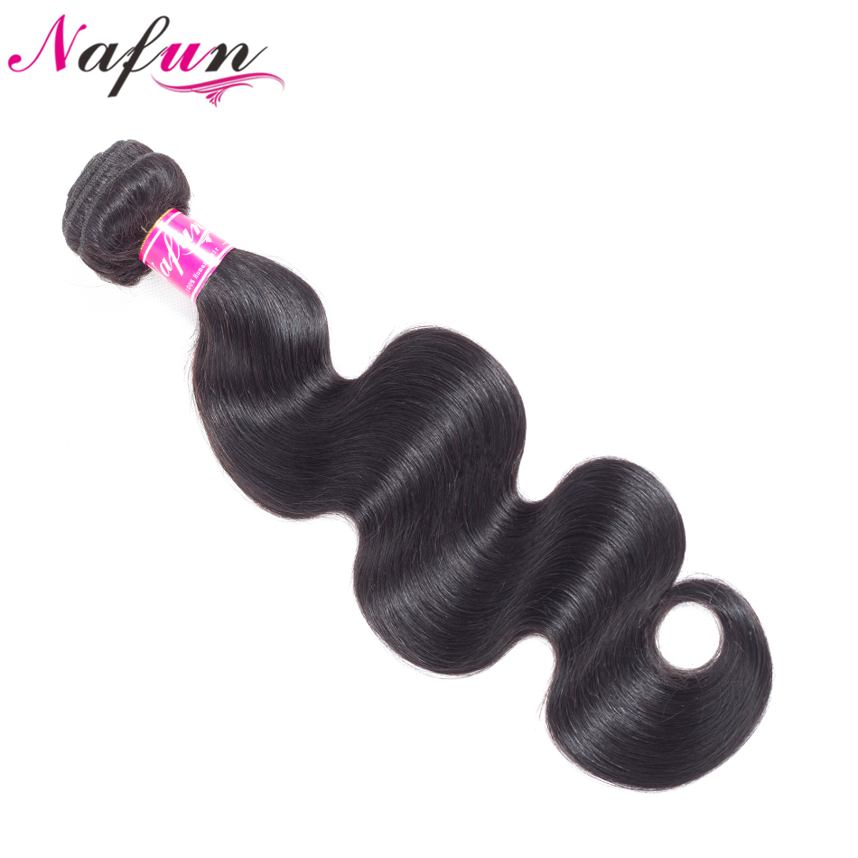 NAFUN Hair Malaysia Body Wave Hair Bundles Non Remy Human Hair Weave Extensions Natual Color 8-26 Inch Hair Extensions