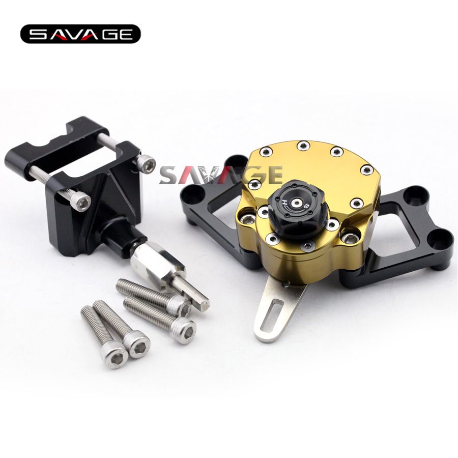 For KAWASAKI EX250 NINJA 250R/ 300 Motorcycle Reversed Safety Adjustable Steering Damper Stabilizer with Mount Bracket