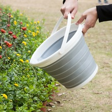 Foldable Wash Bucket Creative Plastic Portable Kitchen Bathroom Camping Car Washing Fishing Cleaning Tools Outdoor Accessories