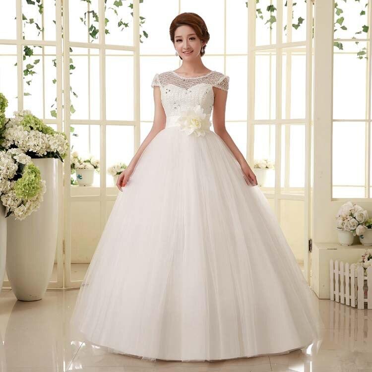 plus size lace wedding dress princess cheap wedding gowns short ...