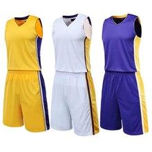 Костюм для баскетбола, детский тренировочный костюм, баскетбольная футболка+ шорты, комплект мужской баскетбольной форменная одежда