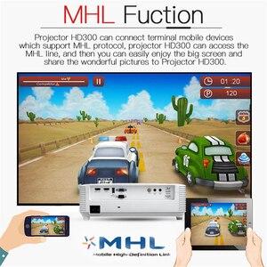 Image 5 - Optoma HD300 DLP מותג מקרן native 1080P רזולוציה 3200 ANSI לום Blu ray 3D LED נייד FHD Beamer עבור בית קולנוע HDMI