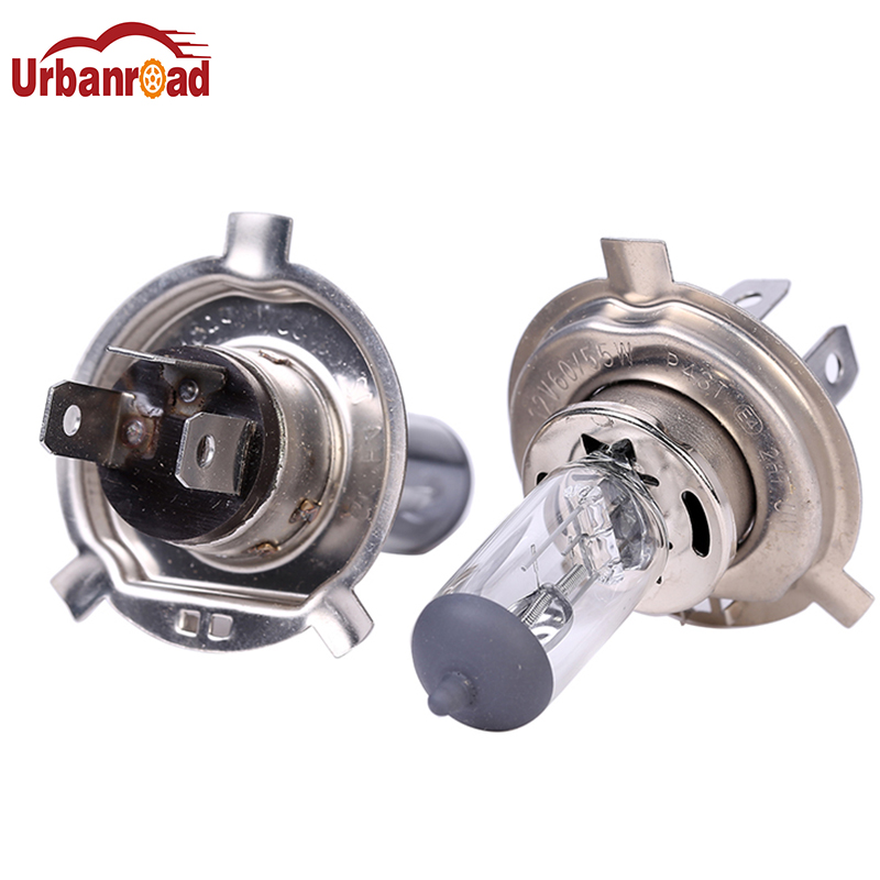 Urbanroad 2pcs H4 12V 55W H4 Halogen Xenon Car Light Bulbs Lamp Car Light Bulb Car Styling Parking Car Halogen Headlight 2 pcs h7 6000k xenon halogen headlight head light lamp bulbs 55w x2 car lights xenon h7 bulb 100w for audi for bmw for toyota