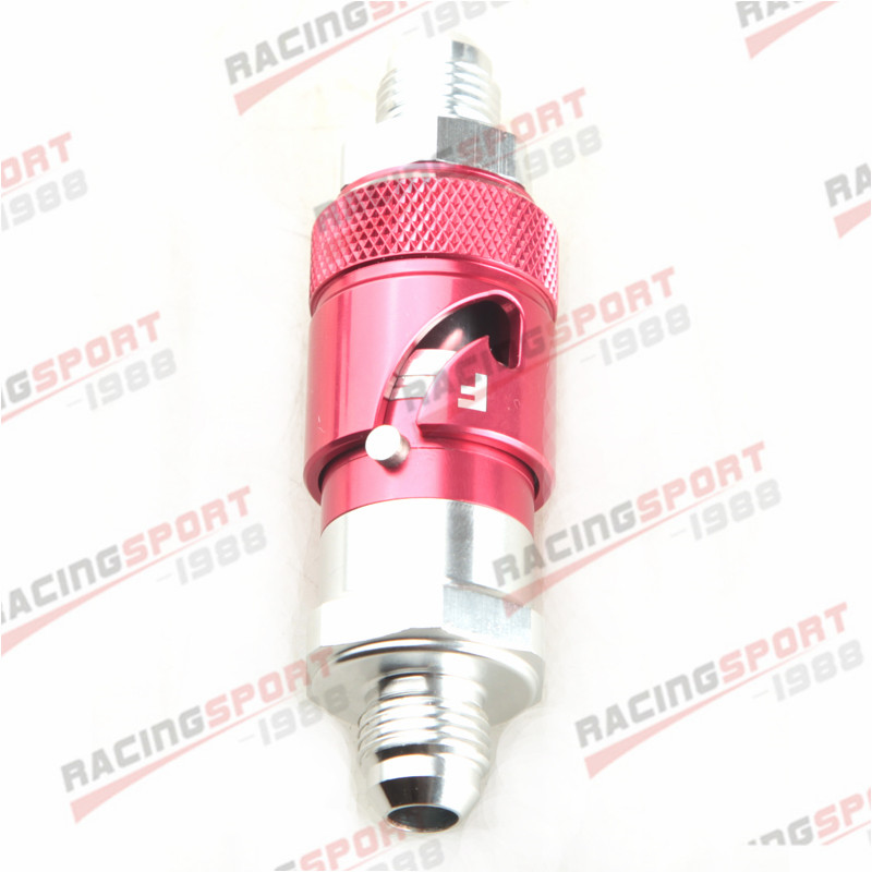 AN4 4AN AN-4 Brake Fluid Quick Release Fitting Adapter Male Red//Silver