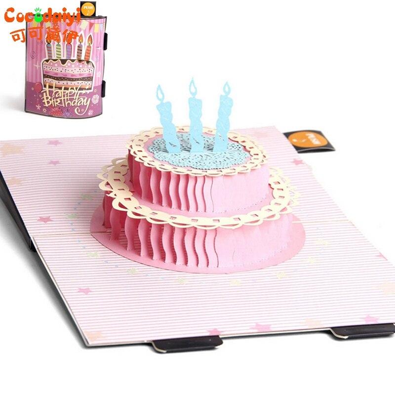 2017 Cake Candle Greeting Card Christmas Wedding Birthday Invitation apr14_35 30pcs in one postcard take a walk on the go dubai arab emirates christmas postcards greeting birthday message cards 10 2x14 2cm