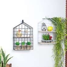 Nordic Iron Art Style Storage Holders Bedroom Sitting Room Porch Decorate Hanging Groceries Receive Flower Wearing Wall