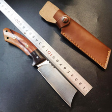 Free shipping 2016 survival knife fixed blade 9Cr18Mov fine pure manual sanding Rosewood and ebony handle EDC Outdoor Tools
