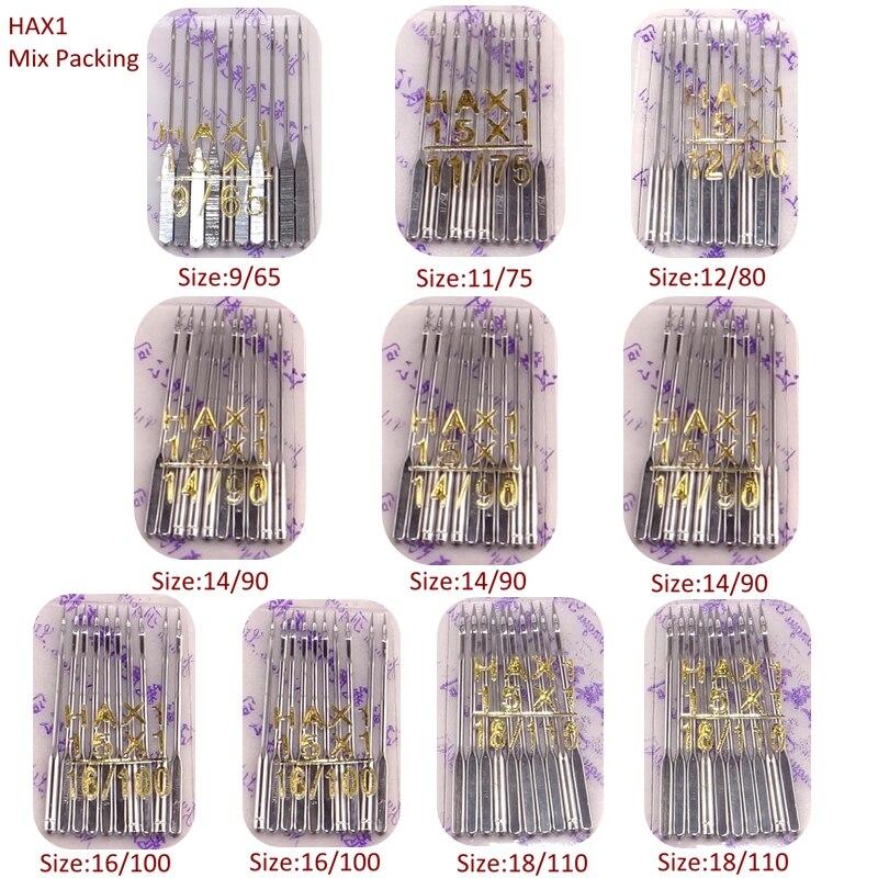HAX1 100 шт. швейные иглы универсальные 15×1 130x705H смешанный набор для упаковки швейных аксессуаров для всех фирменных домашних швейных машин