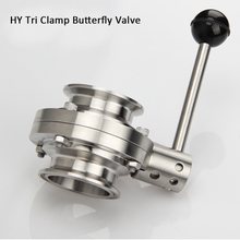 """1/2""""   SS304 Stainless Steel Sanitary  Tri Clamp Butterfly Valve Homebrew"""