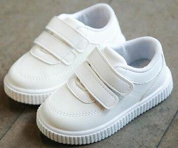 Bambini scarpe da ginnastica ragazzi scarpe ragazze scarpe da ginnastica scarpe di cuoio Per Bambini bianco scarpe nere della scuola di colore rosa casuale scarpa flessibile sole di modo 1