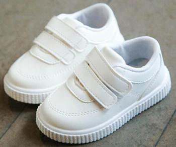 Dziecięce trampki buty dla chłopców dziewczęce trenerzy dziecięce skórzane buty białe czarne buty szkolne różowe obuwie casual elastyczna podeszwa fashion tanie i dobre opinie SANDQ BABY Skóra Hook loop Stałe Spring Autumn Oddychające Mesh Unisex Przypadkowi buty