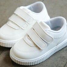 Zapatillas para niños, zapatos para niños, zapatillas para niñas, zapatos de cuero para niños, zapatos escolares blancos y negros, zapatos informales rosados, suela flexible a la moda