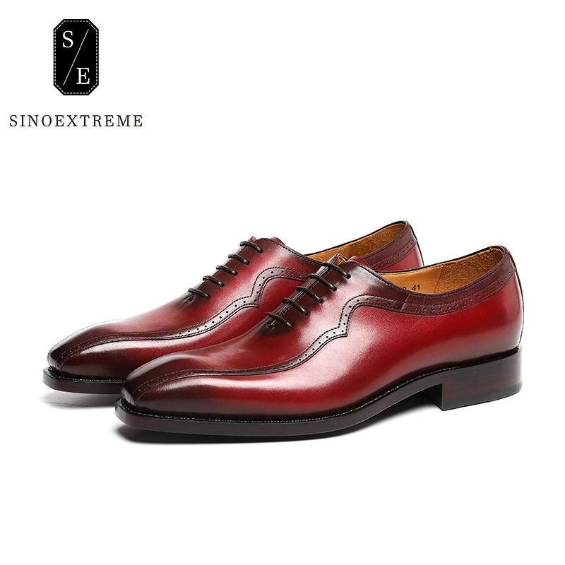 SINOEXTREME Brand Handmade Full Leather Men Oxford Shoes Casual Brown Men Oxford High Quality Soft Leather Dress Shoes For Men hot sale mens italian style flat shoes genuine leather handmade men casual flats top quality oxford shoes men leather shoes