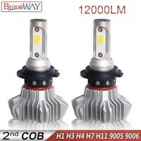 מנורות לרכב נורת LED סופר BraveWay עבור מכוניות לד פנס עבור Auto מנורות 12000LM 80W 12V לרכב אור קרח נורה H1 H4 H7 H11 9005 9006 HB3 BH4 (1)