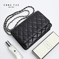 EMMA YAO Sheepskin women bag  designer  genuine leather women messenger bags brand crossbody bag